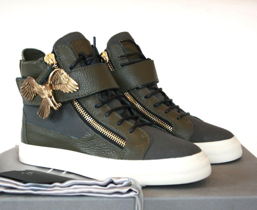 c8ff020389c GIUSEPPE ZANOTTI HOMME gold eagle strap London shoes hi top sneakers 39.5  NEW  GiuseppeZanotti  FashionSneakers