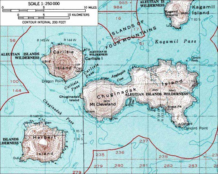 Volcano Topographic Map.Cleveland Volcano World Oregon State University Topographic
