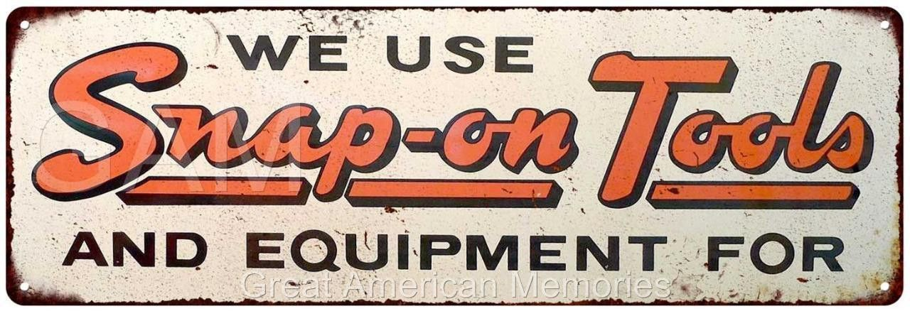 Vintage Garage Medium Metal Tin Sign 22 Mechanics Tools Workshop Advertising