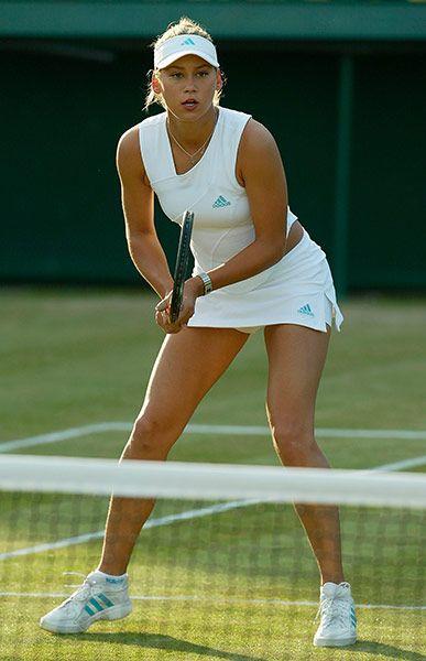 Wimbledon Fashion Through History In Pictures Tennis Players Female Anna Kournikova Wimbledon Fashion