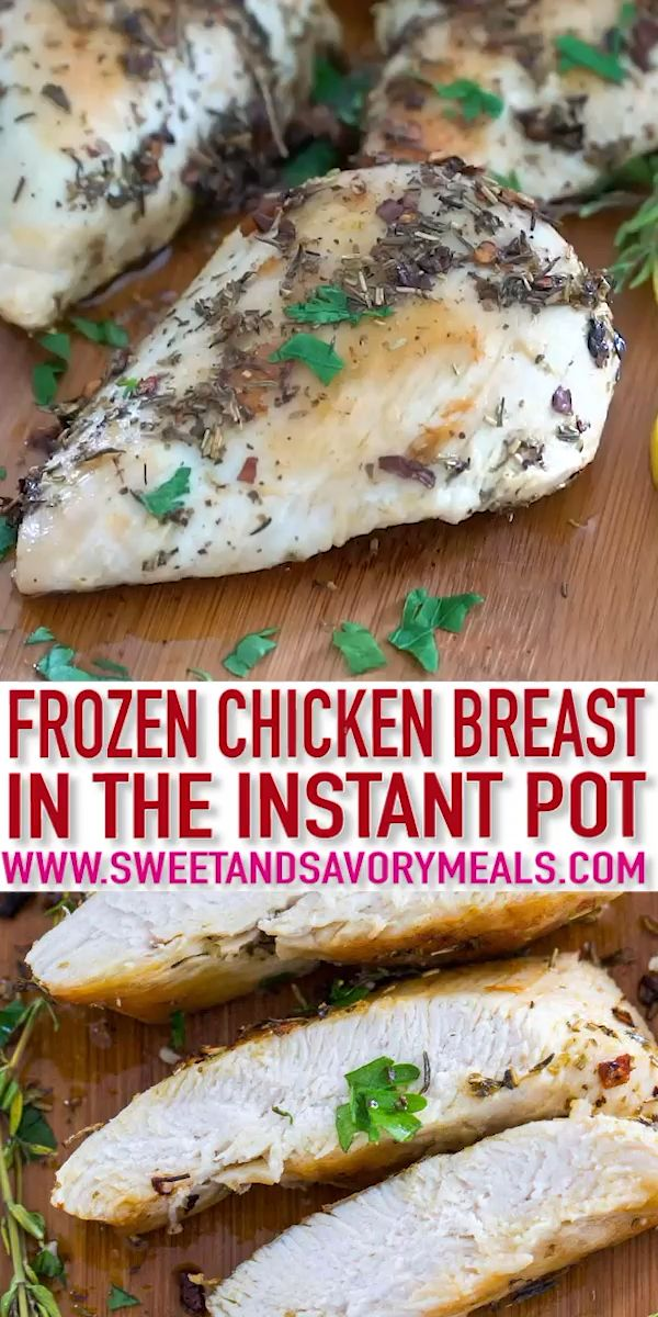 How To Cook Frozen Chicken Breasts In The Instant Pot [Video] - Sweet and Savory Meals images