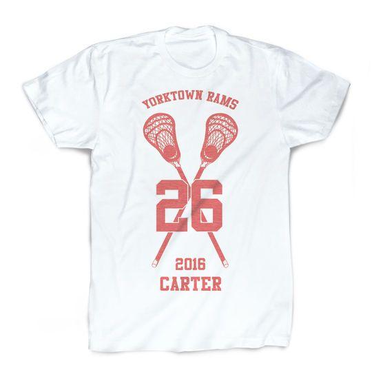 Crossed Sticks Youth Sizes Guys Lacrosse Standard Sweatshirt