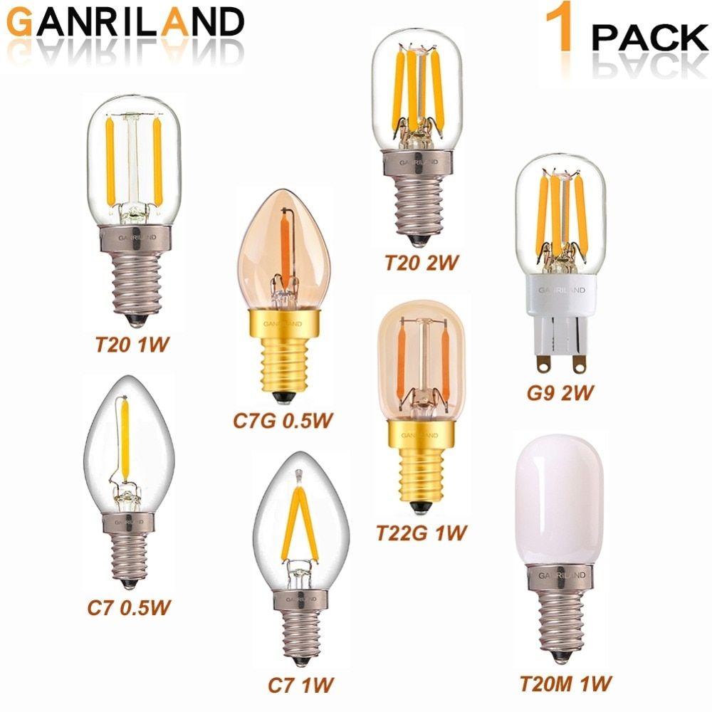Ganriland Led Bulbs G9 E12 E14 0 5w 1w 2w Led Lamp Led Filament Night Light 110v 220v Chandelier Led Edison Bulb Dimmabl Led Bulb Night Light Bulbs Edison Bulb