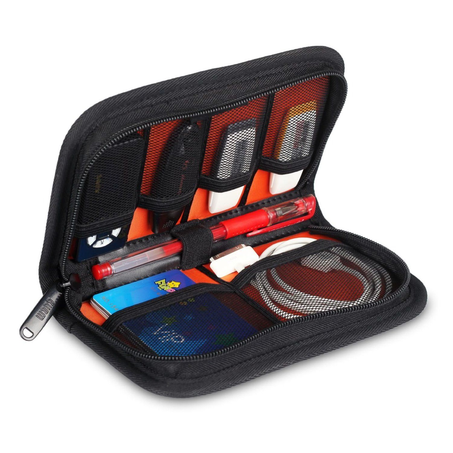 Carrying Case Wallet Bag for -j-uu-ls /& USB Charger Rose Travel Storage case for Your Pocket or Hand Bags Device not Included