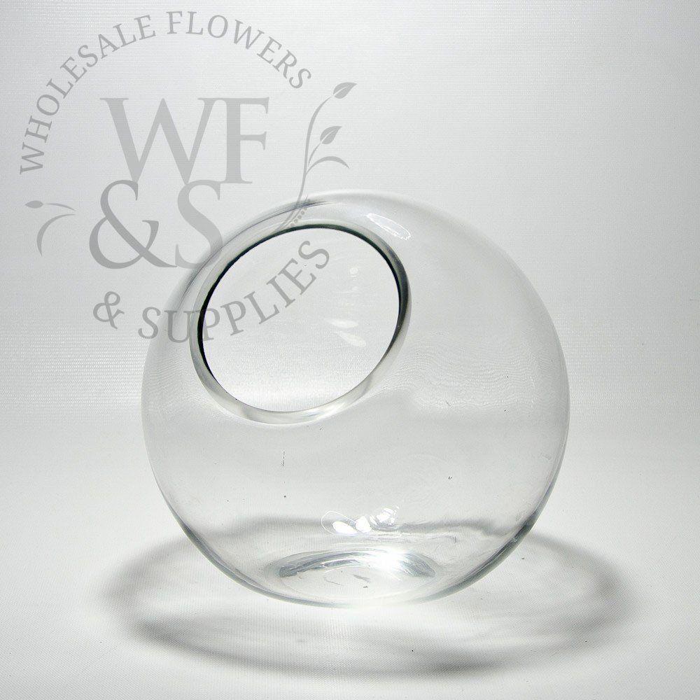 Tilted glass bubble bowl vase medium wholesaleflowersandsupplies tilted glass bubble bowl vase medium wholesaleflowersandsupplies reviewsmspy