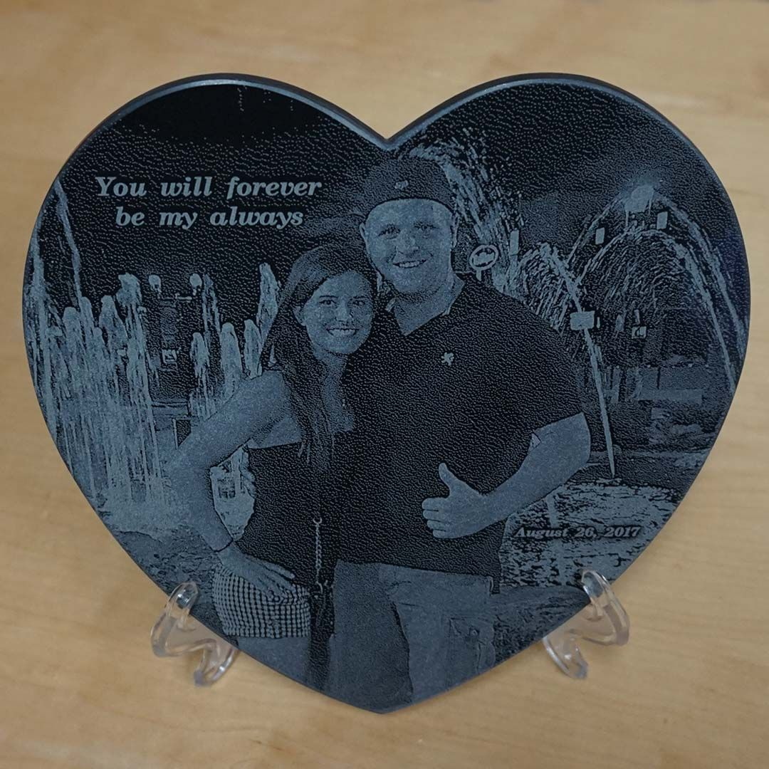 Heart Photo Black Marble Heart Laser Engraved Pet Lover Custom Pet Memorial In 2020 Unique Christmas Gifts Christmas Gift For You Your Pet