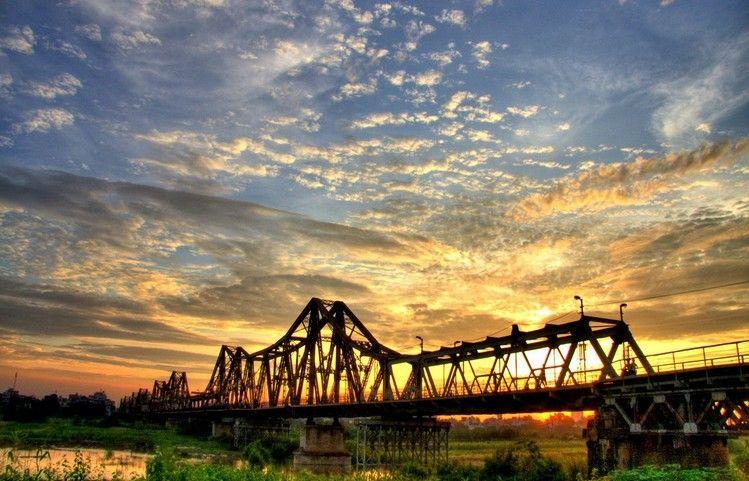 Image result for hanoi sunset