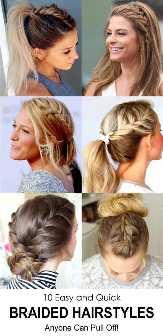 20 Easy And Quick Braided Hairstyles Anyone Can Pull Off