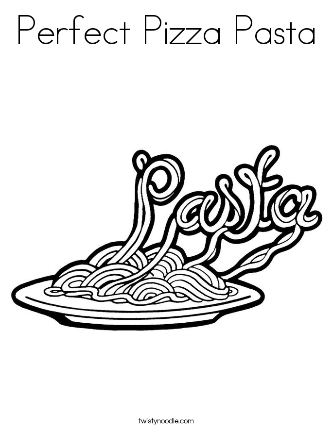 Pizza Coloring Pages Perfect Pizza Pasta Coloring Page Twisty