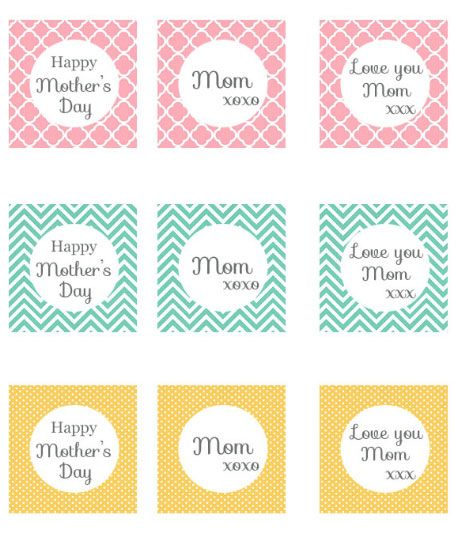 My May Sunshine: Mothers day printable tags and toppers