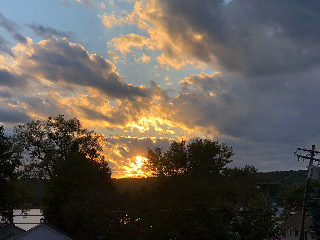 Sunset at Conesus Lane. Livonia, New York. Paul Chandler August 2020.