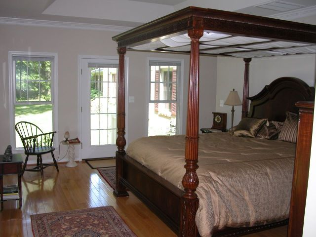 After an active day in Western Loudoun, relax in our King-Size 4 Poster Canopy Bed at Mitchell's Landing.
