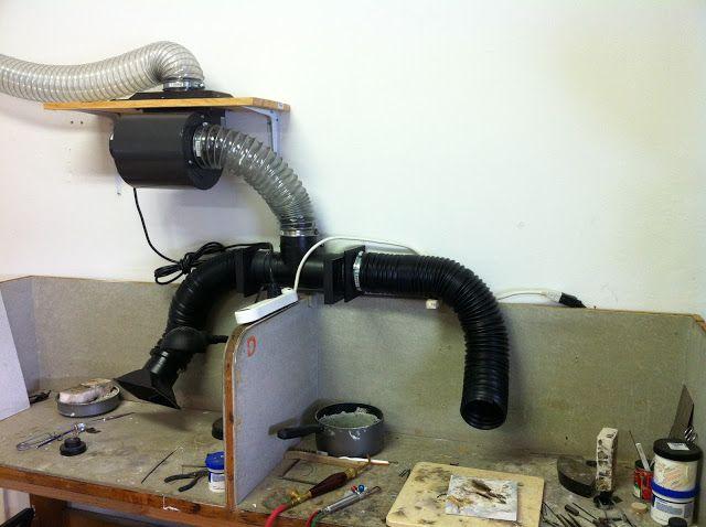 Nice Ventilation System Soldering Set Up Wonder Object Blogspot Diy Handyman Metal Workshop Studio