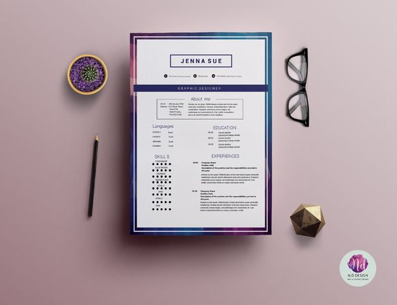 2-page resume template Resume fonts, Marketing resume and Cover