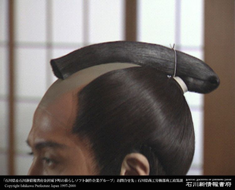 Why Did The Samurai Wear Their Hair In A Chonmage Japanese Hairstyle Japanese Hairstyle Traditional Traditional Hairstyle