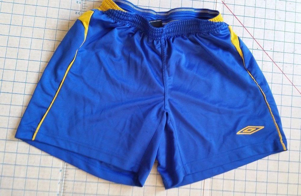 1cabf8bc19 Umbro Blue Climate Control Running Soccer Shorts Stretch Boys Youth M medium  #Umbro