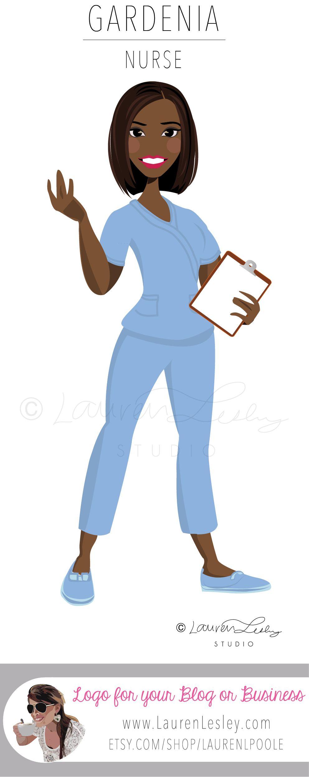 Nurse Illustration Logo Medical Tips & Advice Medical