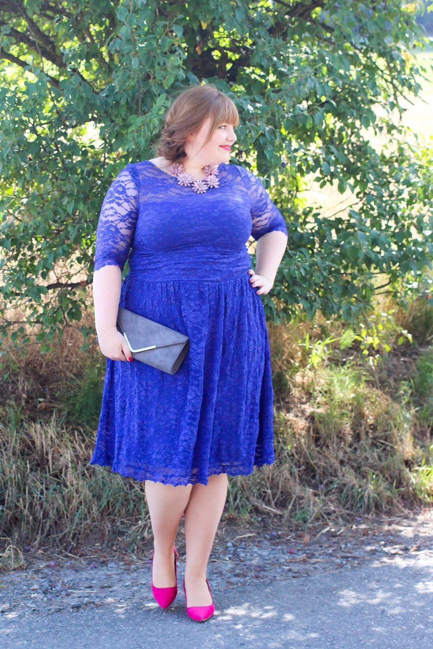 Something Blue... Plus Size Hochzeitsgast {Outfit ...