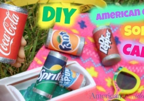 American Girl Doll Soda Cans #americangirlhouse