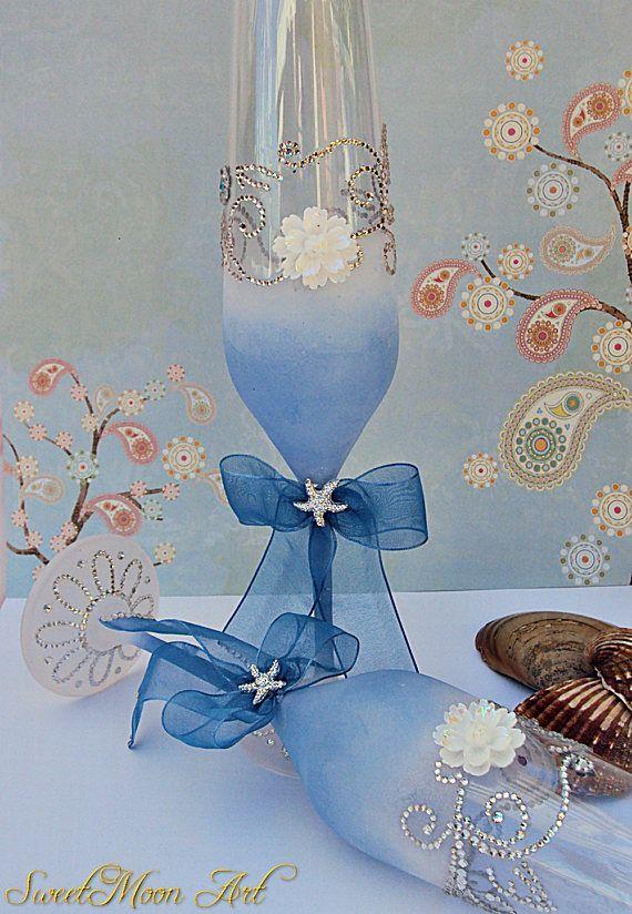 Flautas champagne copas para brindar copas boda playa algo