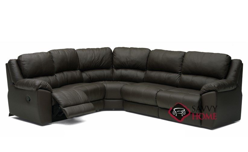 Benson Reclining True Sectional Leather Sleeper Sofa Leather