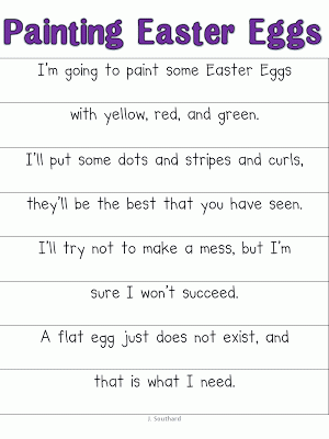 April Poems, Fluency, and Easter