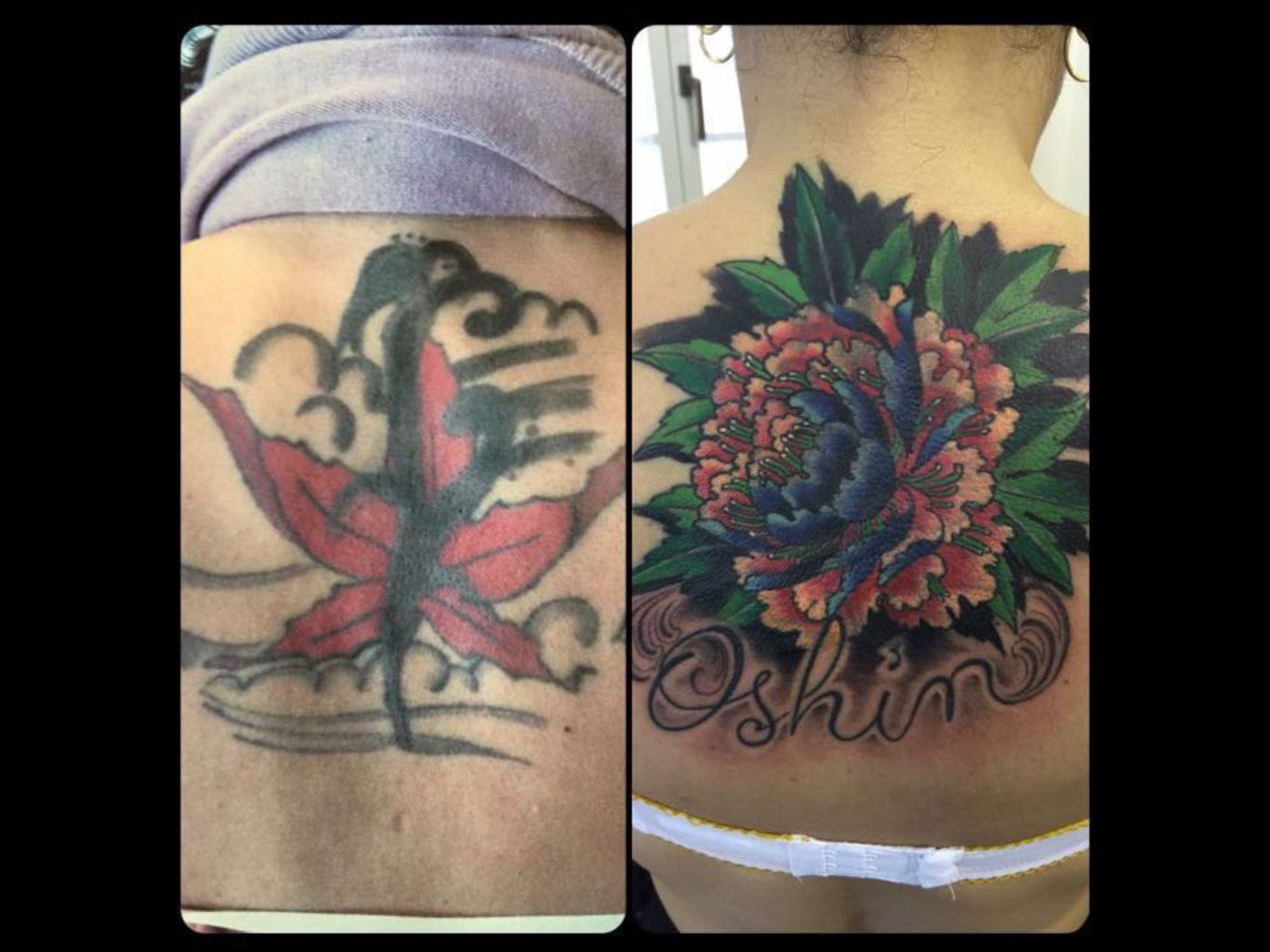 PMP Tattoo Parlour cover-up  by Ylenia #tattoos #tattooink #ink #tattooboys #tattoogirls #love #lovetattoo #tattoolove #tattooed  #cool #amezing #special #colors #flowerstagram #multycolor #tattooboy #tattoogirl #loveink #back #hat #life #flowers #tätowierung #flowerstattoo #cool #free #happy #love #instacool #instagood #picoftheday #coverup @pmp_tattoo_parlour