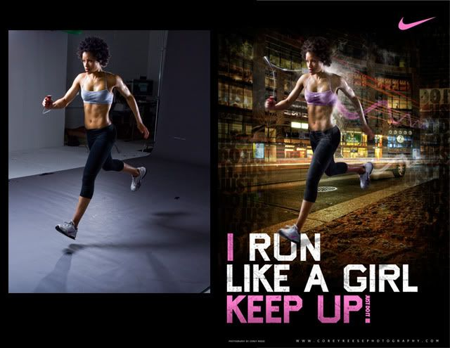 Nike ad - Woman running;