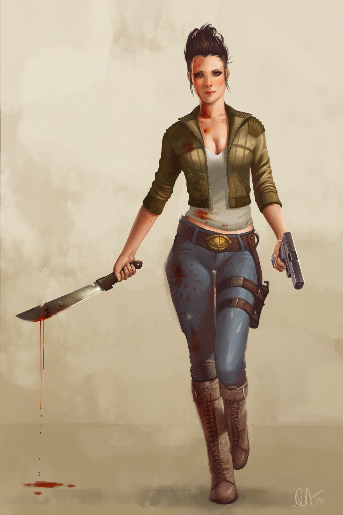 """As a refuge against the zombies. Character """"Grace"""", Kelly Perry 