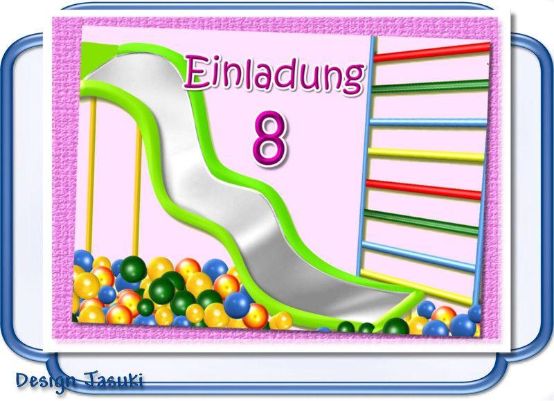 Einladung Kindergeburtstag Indoorspielplatz