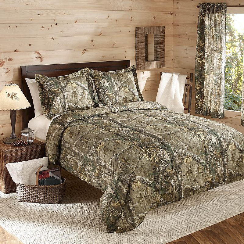 Realtree Camo Reversible Comforter Set, Green Comforter