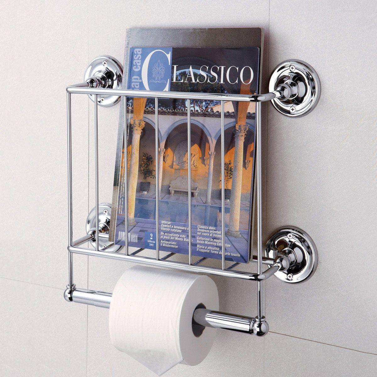 Estate Magazine Rack Chrome Toilet Paper Storage Toilet Paper Toilet Paper Holder