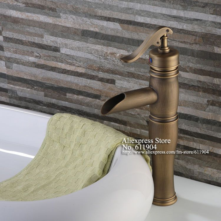 Antique Brass Water Pump Style Open Spout Bathroom Faucet Lavatory Bar Basin Sink Mixer Taps 2210101 In Basin Fauce Bathroom Faucets Sink Mixer Taps Basin Sink
