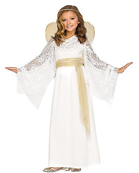 Perfect Kids Lace Angel Costume   Spirithalloween.com More