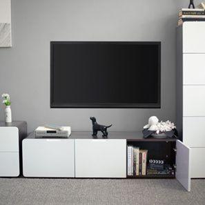 Living Room Cabinet Design Ideas Adorable Bergen Tv Cabinet Dark Walnut Finish  Ideas For The House Inspiration
