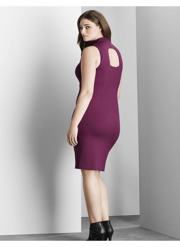 6f52b56fa93 Plus Size 6th   Lane exposed back sheath dress Lane Bryant Women s Size 12