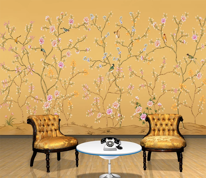 3d Bird Docked Tree 773 Wall Murals Traditional Wallpaper 3d Wall Murals