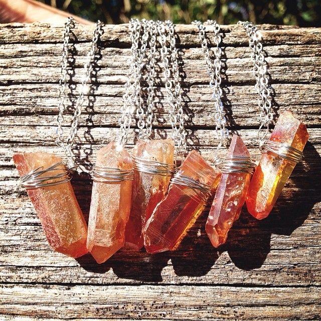 Peach Titanium necklaces ❤️