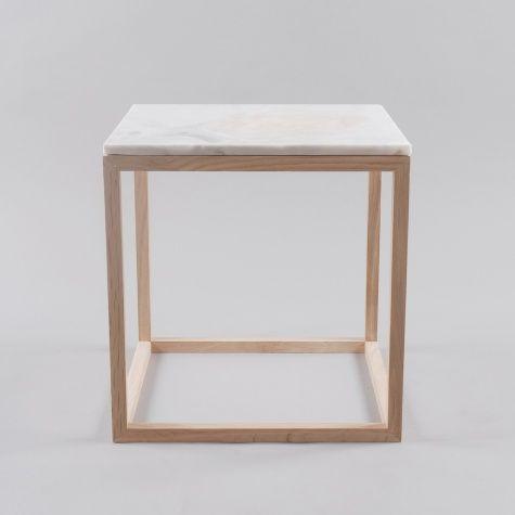 Kristina Dam Oak Table With White Marble Top £170 Mesas De Marmol - mesitas de madera