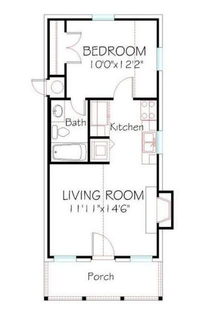 Cottage House Plans One Story Small Small House Floor Plans Tiny House Layout Tiny House Floor Plans