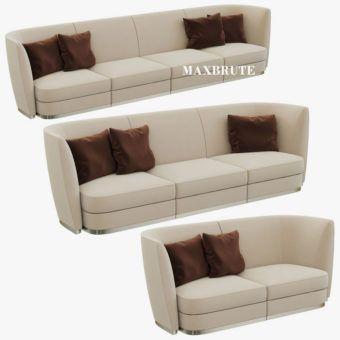 Sofa 3dsmax 3dmodel Flexform Altea Divano