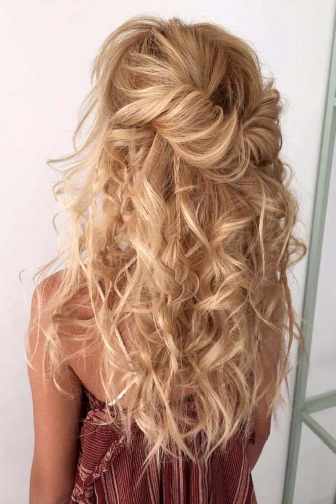 50 Gorgeous Half Up Half Down Hairstyles Perfect For Prom Or A Formal Event Prom Hair Down Hair Styles Half Up Half Down Hair Prom
