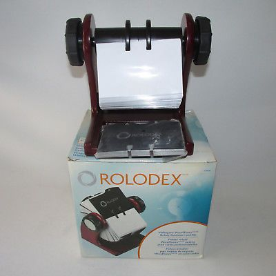 Mahogany rolodex rotary business card file with cards protectors 2 5 mahogany rolodex rotary business card file with cards protectors 2 58 x 4 new colourmoves