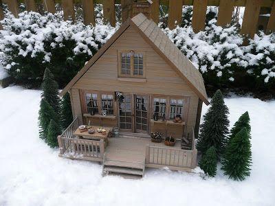 pingl par lilia s sur winter christmas in miniature. Black Bedroom Furniture Sets. Home Design Ideas