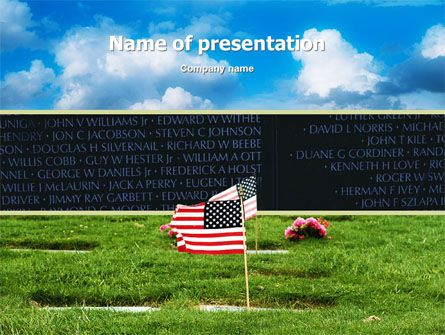 American Flag In Memorial Day Free PowerPoint Template Free - memorial powerpoint templates free
