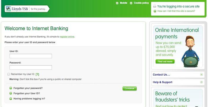 Lloyds Tsb Login Lloydstsb Com Online Banking Online Banking