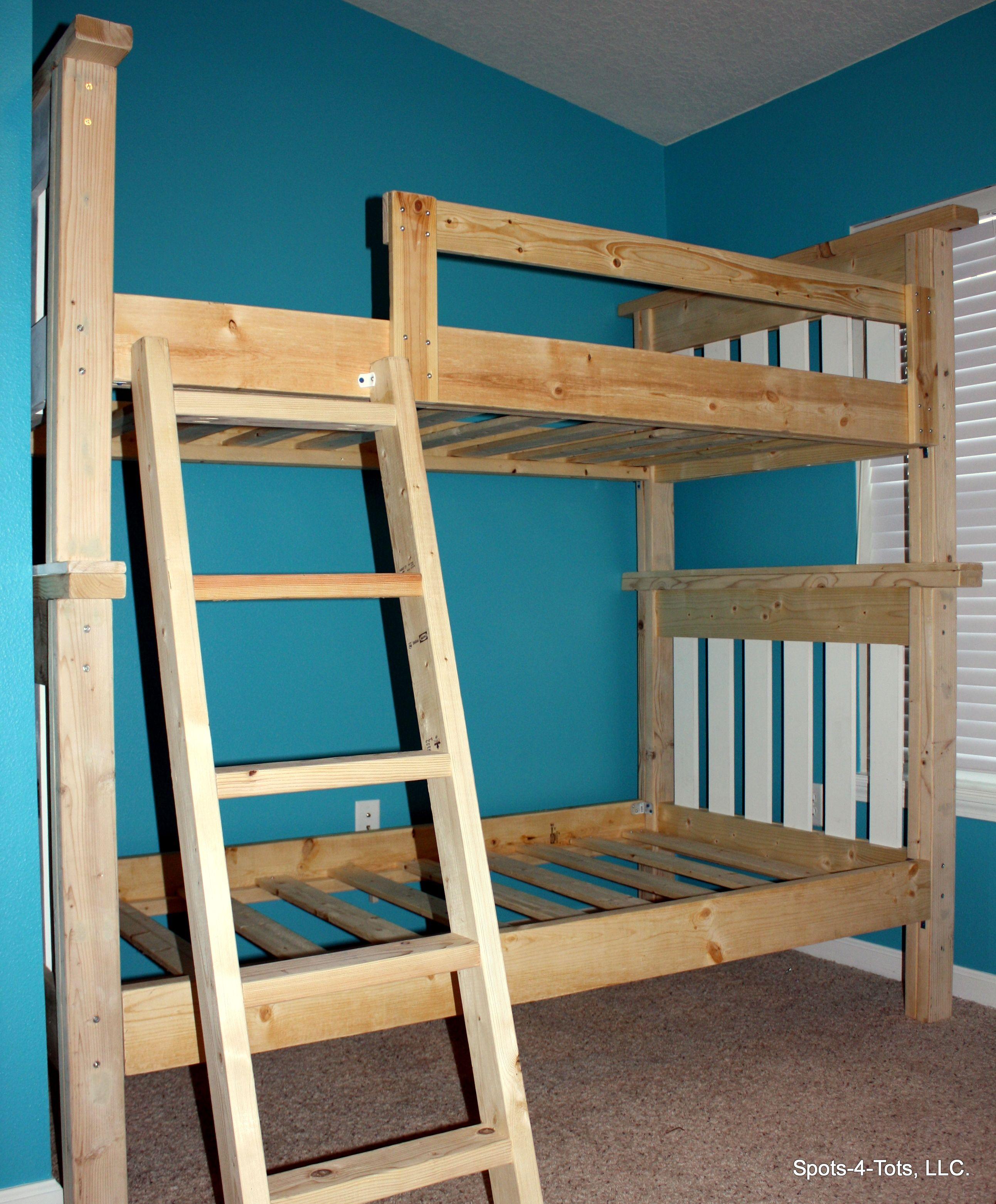Loft captains bed twin  Classic Bunk Beds Custom Kids loft beds Bunk beds SpotsTots
