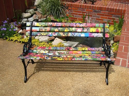 Incredible Unique Wooden Bench Decorating Ideas To Personalize Yard Bralicious Painted Fabric Chair Ideas Braliciousco
