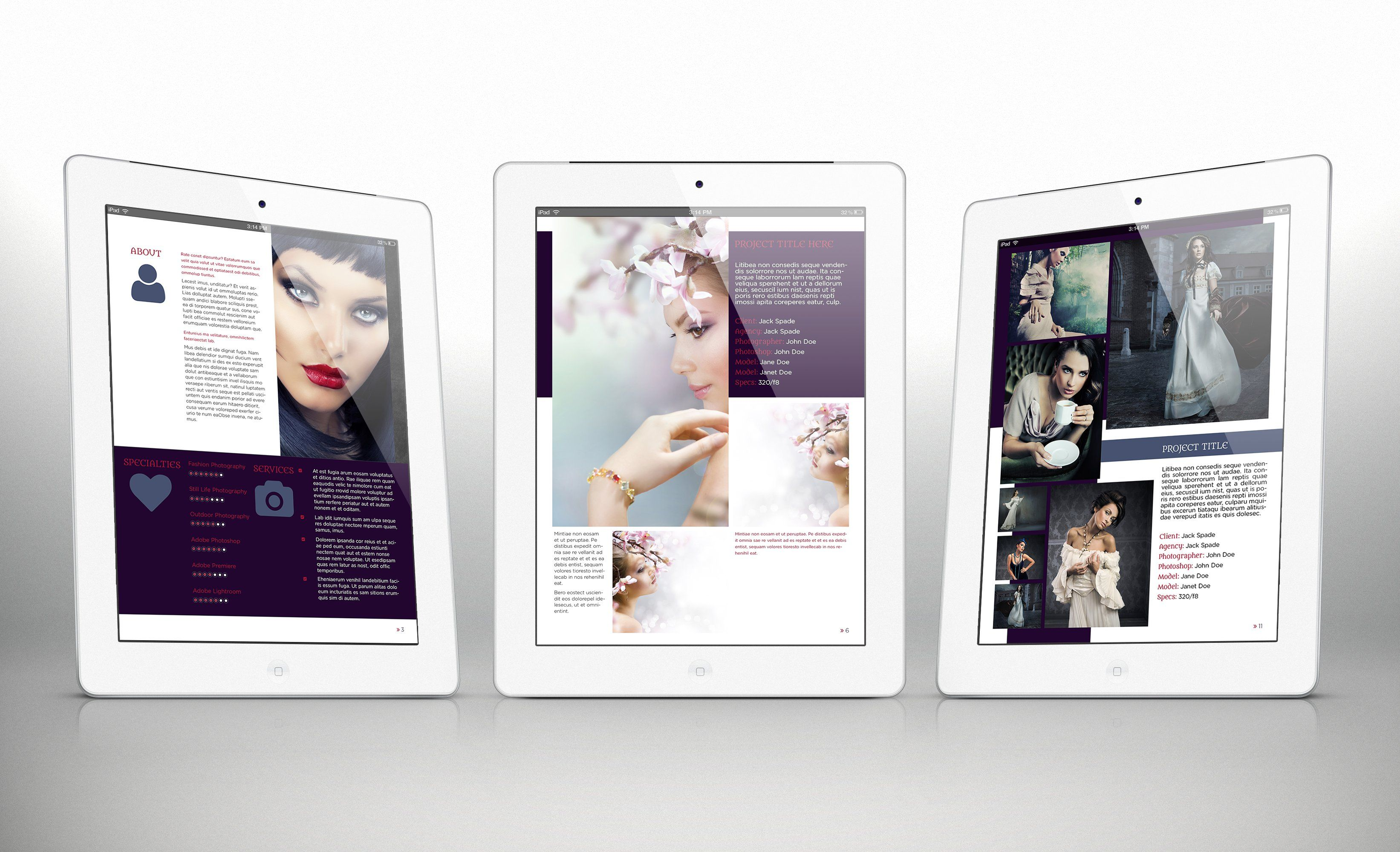 iPad Portfolio Template r3 for Indesign CS4 or Later | Design Haven ...