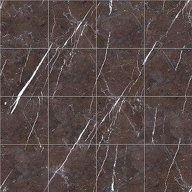 Textures Texture seamless | Graphite brown marble tile texture ...